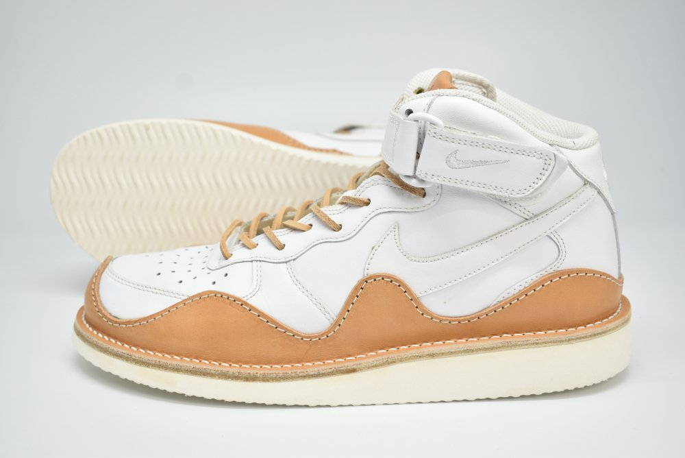PETERSON STOOP/ピーターソン ストゥープ NIKE AIR FORCE MID WHITE TAN BOUBLE WAVY