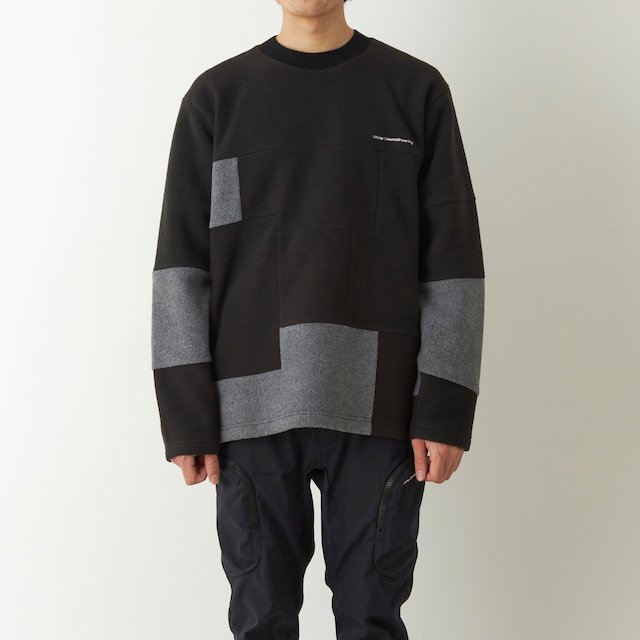 <img class='new_mark_img1' src='https://img.shop-pro.jp/img/new/icons14.gif' style='border:none;display:inline;margin:0px;padding:0px;width:auto;' />White Mountaineering  / ホワイトマウンテニアリング PATCHWORK FLEECE CREWNECK