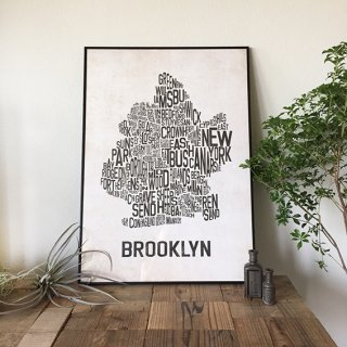 B2ポスター(BROOKLYN-WHITE)