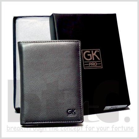 【正規輸入品】【GK PRO】 ※送料無料※ フランス警察専用パッジ入れデザイン・本革3つ折り財布