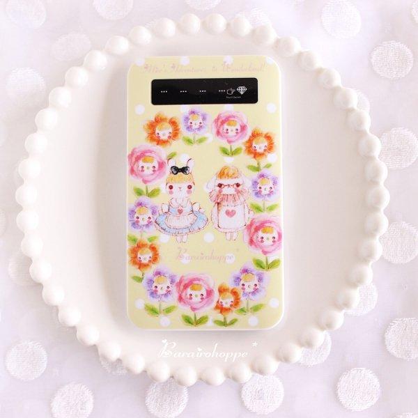 【受注生産】モバイルバッテリーアリスとお花