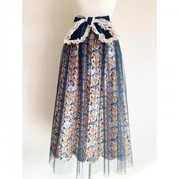 わんちゃんぎゅうぎゅうチュールスカート(丈約80cm)