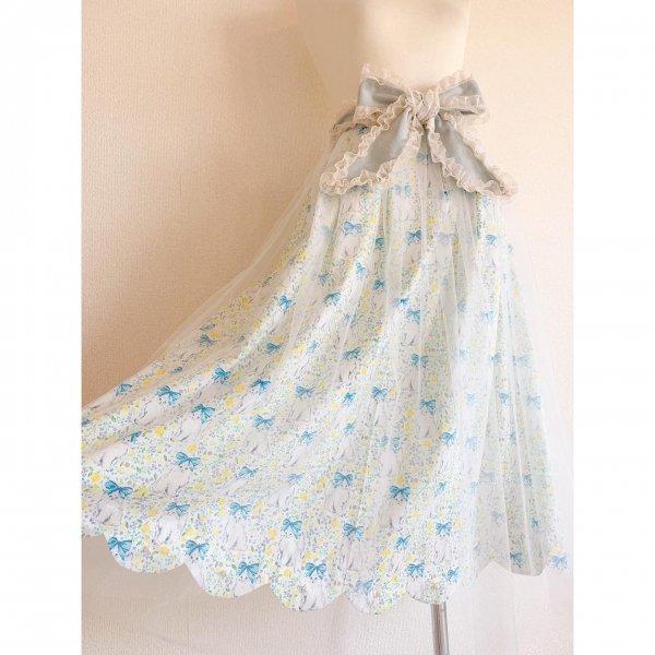 ねこちゃんのリボンスカート(丈約80cm)