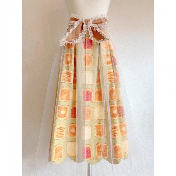 楽しいパンのチュールスカート(丈約80cm)
