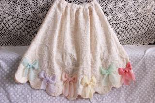 幸せのリボンスカート(ピンク)