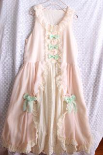 【受注生産】ロココの香りのワンピース(ピンク)