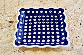 スクウェア・フリル皿