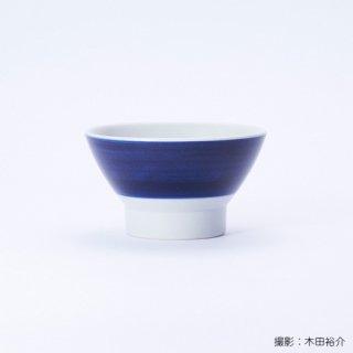 白青|くらわんか碗 夫(縞柄・太)【砥部焼】