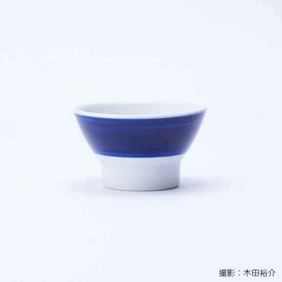 白青|くらわんか碗 婦(縞柄・太)【砥部焼】