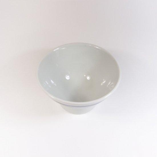 白青|くらわんか碗 婦(縞柄・細)【砥部焼】