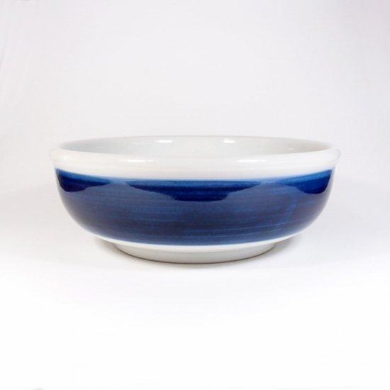 白青|大鉢(縞柄・太)【砥部焼】