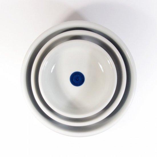 白青|大鉢(縞柄・細)【砥部焼】
