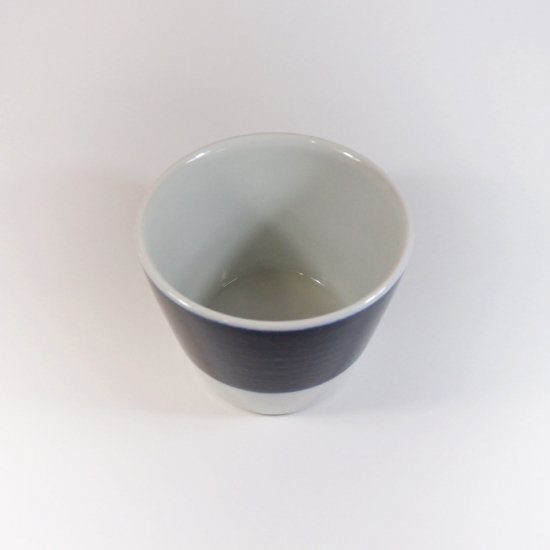 白青|蕎麦猪口(縞柄・太)【砥部焼】