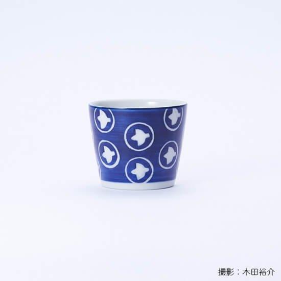 白青|蕎麦猪口(絵柄・ひばり)【砥部焼】