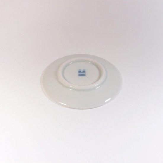 白青|豆皿(縞柄・細)【砥部焼】