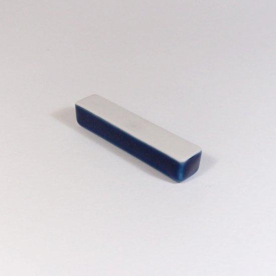 白青|箸置き(角型・青)【砥部焼】