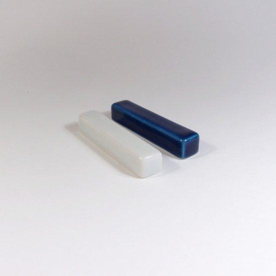 白青|箸置き(角型・白)【砥部焼】