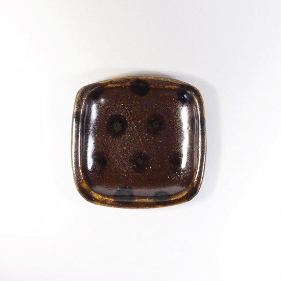 sunny-craft(サニークラフト)|豆皿 チョコレート釉 ドット