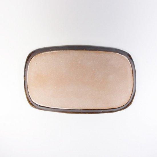 sunny-craft(サニークラフト)|めいめい皿 チョコレート釉 ドット