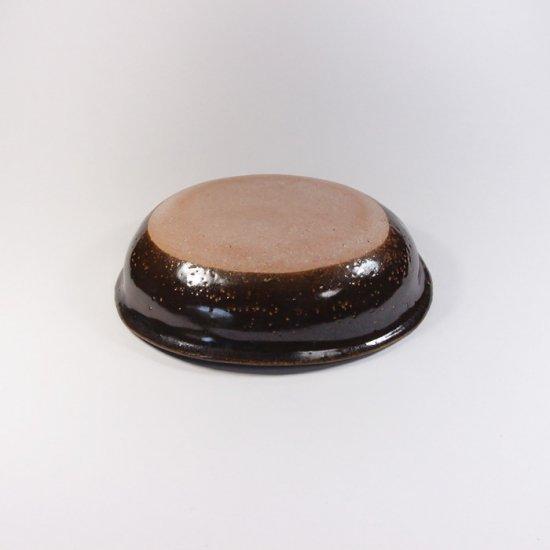 sunny-craft(サニークラフト)|カレー皿小 チョコレート釉 ドット
