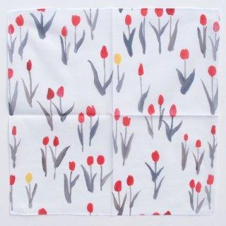 【クリックポストOK】otsukiyumi(おおつき ゆみ)|ハンカチ Tulip(チューリップ)【テキスタイル】