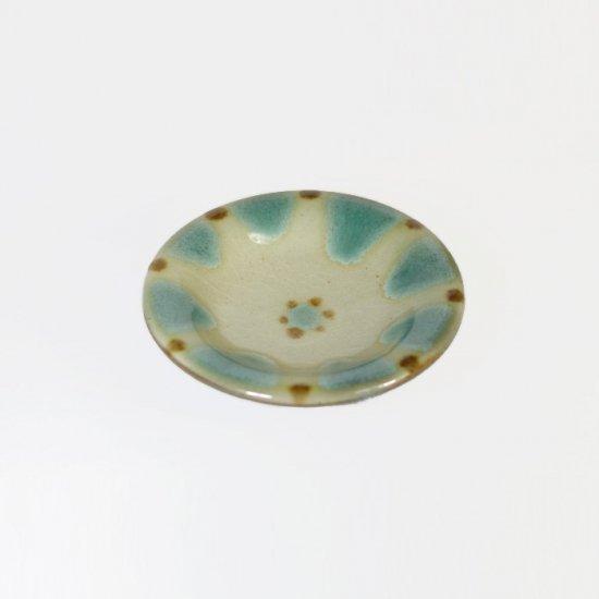 ノモ陶器製作所(野本周)|小皿 緑釉(オーグスヤー)  【やちむん】