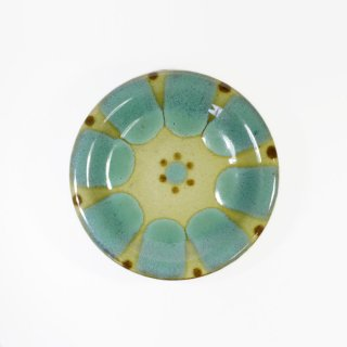 ノモ陶器製作所(野本周)|4寸皿 緑釉(オーグスヤー) 【やちむん】