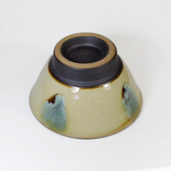 ノモ陶器製作所(野本周)|4寸マカイ(お茶碗) 緑釉(オーグスヤー) 【やちむん】