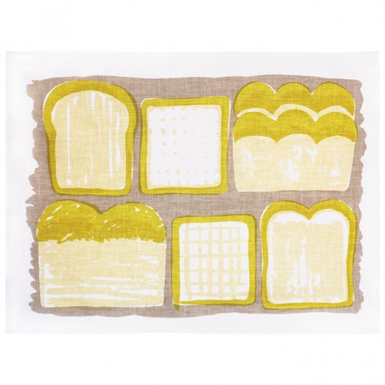 【クリックポストOK】EFUKiN(絵ふきん) bread2【ふきん・キッチンクロス・ランチョンマット】
