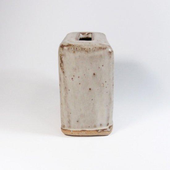 比呂|花器L(白)【笠間焼】