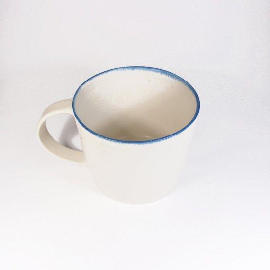 町田裕也|マグカップ ふちブルー