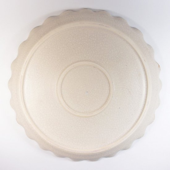 町田裕也|なみなみ平皿 7寸 ひび
