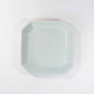 h+(エイチプラス)|八角皿S ブルー【波佐見焼】