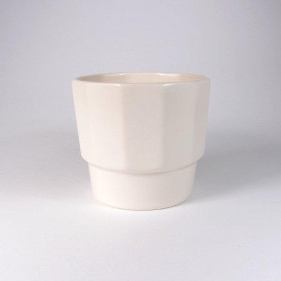 h+(エイチプラス)|かさねカップ ホワイト【波佐見焼】