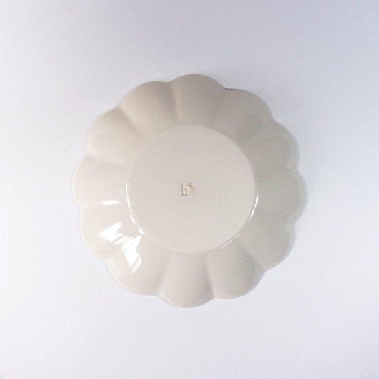 h+(エイチプラス)|花皿M アイボリー【波佐見焼】
