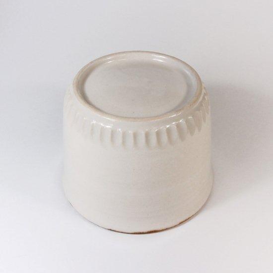 原村俊之│うろこ フリーカップ ホワイト 染付(トリ)【磁器】