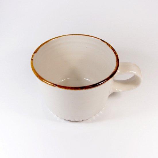 原村俊之│うろこ コーヒーカップ ホワイト【磁器】