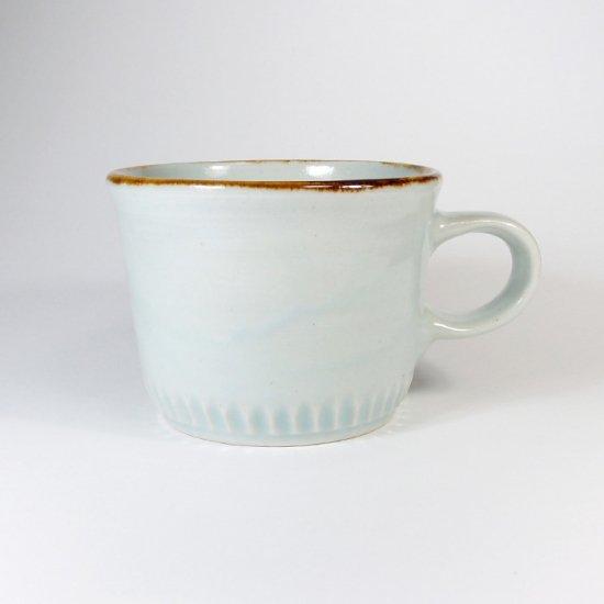 原村俊之│うろこ コーヒーカップ ブルー【磁器】