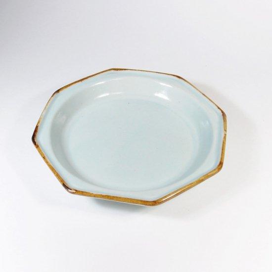 原村俊之│八角小皿 ブルー【磁器】