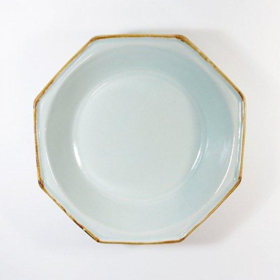 原村俊之│八角深皿(小) ブルー【磁器】