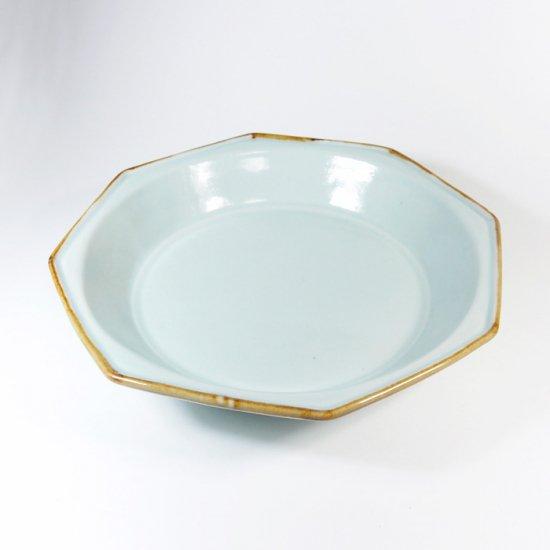 原村俊之│八角深皿(中) ブルー【磁器】