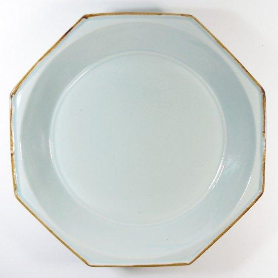 原村俊之│八角深皿(大) ブルー【磁器】