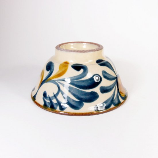陶眞窯(とうしんがま)|3.5寸マカイ ゴス唐草【やちむん】