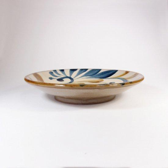 陶眞窯(とうしんがま)|5寸皿 ゴス唐草【やちむん】