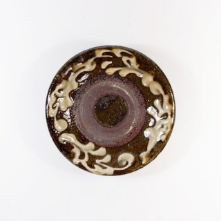 照屋窯(てるやがま)│3寸皿 イッチン 重焼【やちむん】