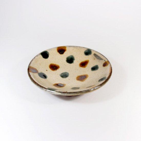 照屋窯(てるやがま)│3寸皿 点打ち 一枚焼【やちむん】