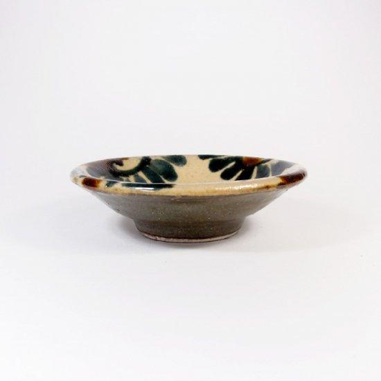 照屋窯(てるやがま)│3寸皿 唐草模様 一枚焼【やちむん】