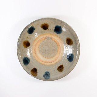 照屋窯(てるやがま)│4.5寸皿 点打ち 重焼【やちむん】