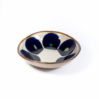 エドメ陶房(川上真悟)|小鉢 丸紋 コバルト  【やちむん】