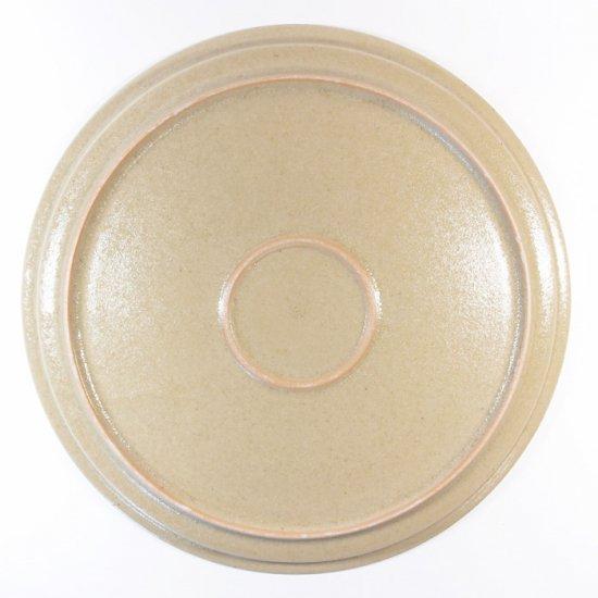 こいずみみゆき│8寸リム皿 ベージュ